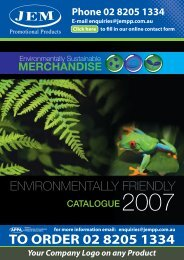 Environmentally Sustainable Merchandise - JEM Promotional ...