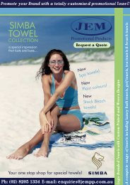 Simba Towels - JEM Promotional Products