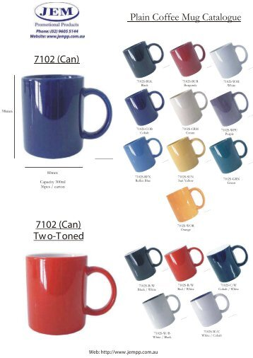 JEM Custom Printed Mugs - JEM Promotional Products
