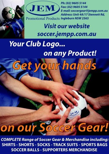 Soccer Gear - JEM Promotional Products