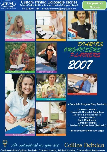 Collins Debden Custom Diaries - JEM Promotional Products