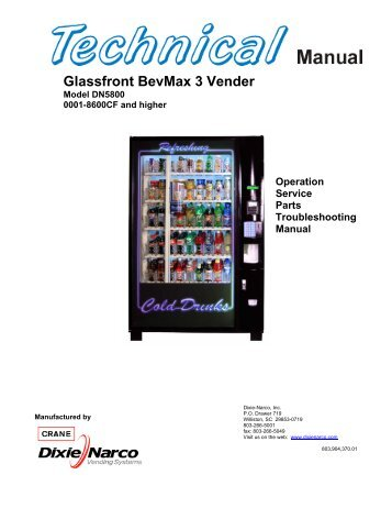 Glassfront BevMax 3 Vender - The Vending Center