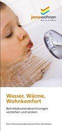 Wasser, Wärme, Wohnkomfort - jenawohnen