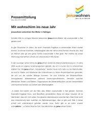 Pressemitteilung Mit wohnschirm ins neue Jahr - jenawohnen