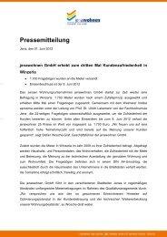 Pressemitteilung vom 1. Juni 2012 - jenawohnen