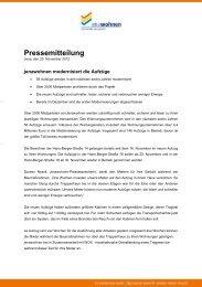 Pressemitteilung vom 20. November 2012 - jenawohnen