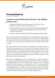 Pressemitteilung vom 9. November 2012 - jenawohnen
