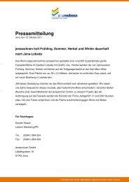 Pressemitteilung vom 18. Oktober 2011 - jenawohnen