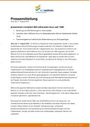 Pressemeldung vom 11. August 2010 - jenawohnen