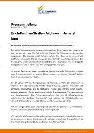 Pressemitteilung Erich-Kuithan-Straße – Wohnen in ... - jenawohnen