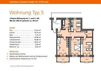 Wohnung Typ 5 - jenawohnen