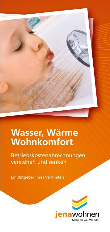 Wasser, Wärme Wohnkomfort - jenawohnen