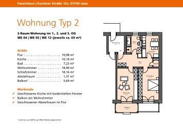 Wohnung Typ 2 - jenawohnen