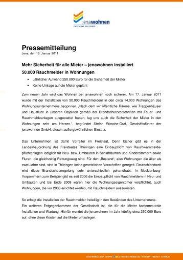 Pressemeldung vom 18. Januar 2011 - jenawohnen