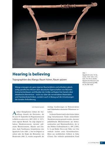 Antike Welt. Zeitschrift für Archäologie und Kulturgeschichte 4/2012 ...