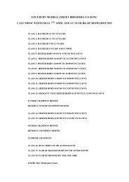 goulburn murray jersey breeders club inc. calf show wednesday 7 ...