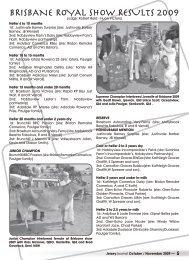 BRISBANE ROYAL SHOW RESULTS 2009