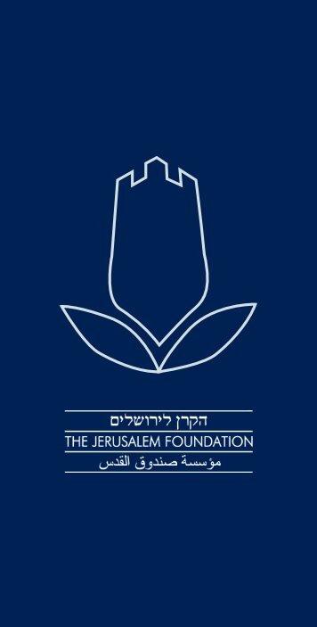 Die Blaue Broschüre - Jerusalem Foundation
