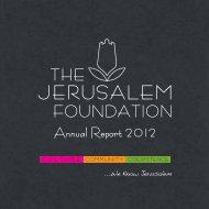 Annual Report 2012 - Jerusalem Foundation