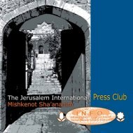 Press Club Brochure - Jerusalem Foundation