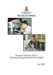 The City as a School - Jerusalem Foundation