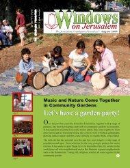 Windows August 2009 - Jerusalem Foundation