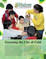 Windows March 2011 - Jerusalem Foundation
