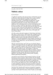 Nihlistic Culture - Jerusalem Foundation
