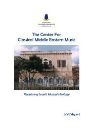 The Jerusalem Center for Middle Eastern Music and Dance