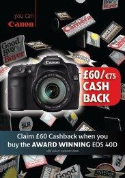 £60/¤75 CASH BACK - Jessops
