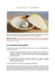 La parabole de la perle - Jesus est vivant
