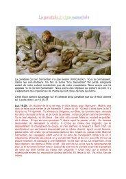 la parabole du bon samaritain - Jésus est vivant