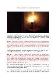 La parabole de la lampe et de la mesure - Jésus est vivant