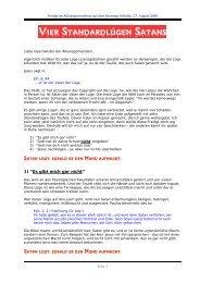 Vier Standardlügen Satans Predigt vom 17.08.2008 - Jesus-Service