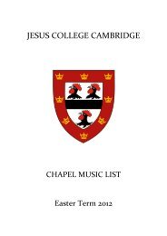 Easter Term - Jesus College