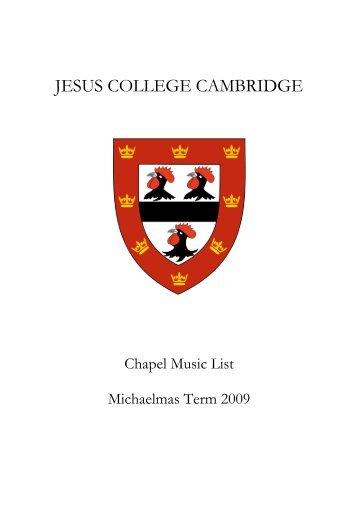 Michaelmas Term - Jesus College