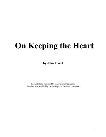On Keeping the Heart - Jesus Army