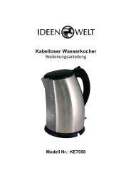 Kabelloser Wasserkocher - JET GmbH