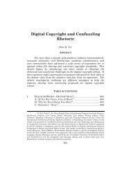Digital Copyright and Confuzzling Rhetoric - JETLaw: Vanderbilt ...