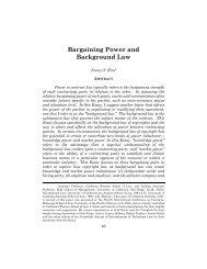 Bargaining Power and Background Law - JETLaw: Vanderbilt ...