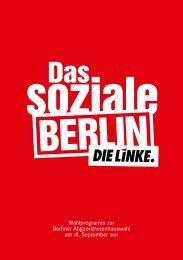 Wahlprogramm der Berliner Linkspartei - Tagesspiegel