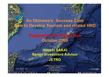 How to Develop Tourism and related HRD- Suggestion for ... - JETRO