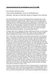 Literaturabend: Tanz mit dem Schafsmann - DJG Oldenburg