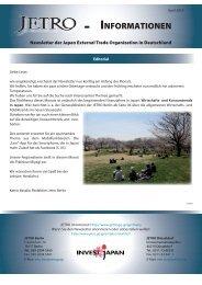 Jetro-Informationen, April 2013