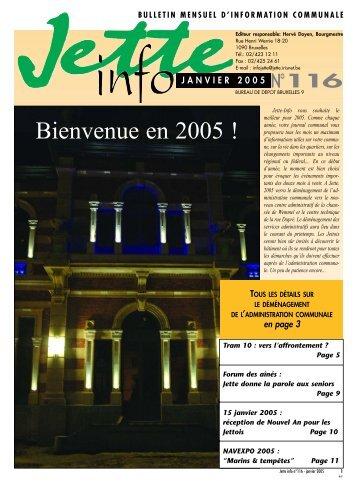 Jette Info 116 FR - 1.2005