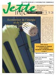 Jette Info 113 FR - 10/2004