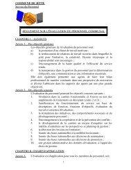 Règlement sur l'évaluation du personnel - Jette