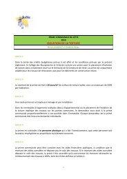 ISOLATION DE LA TOITURE REGLEMENT COMMUNAL - Jette