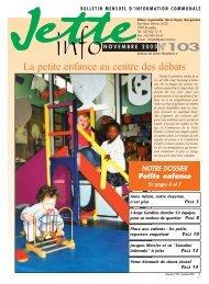 Jette Info 103 FR - 11/2003