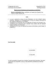 COMMUNE DE JETTE GEMEENTE JETTE Commission de ...